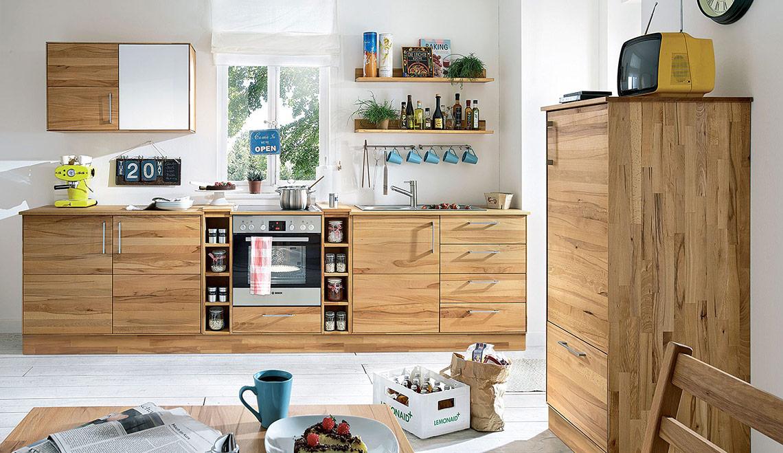 Massivholz-Modulküche \