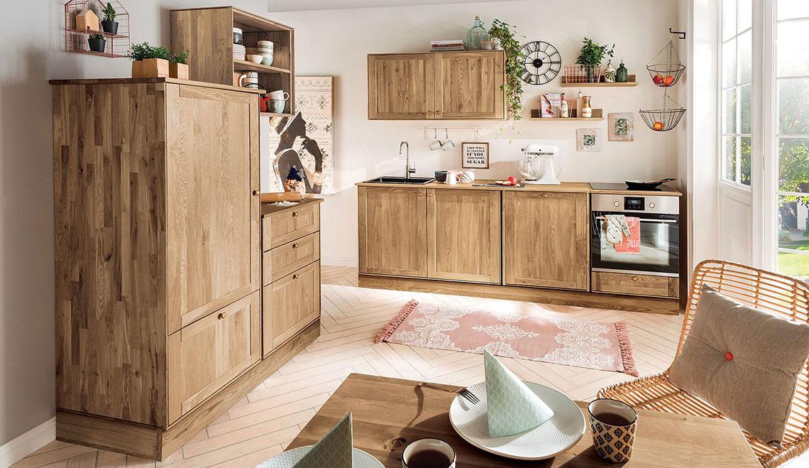 k chen aus massivholz. Black Bedroom Furniture Sets. Home Design Ideas