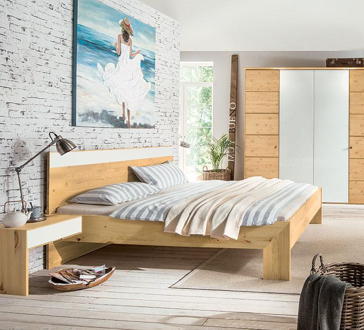 Zirbenholz schlafzimmer modern  Schlafzimmer aus massivem Zirbenholz