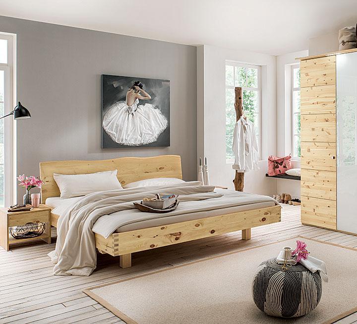 schlafzimmer aus massivem zirbenholz. Black Bedroom Furniture Sets. Home Design Ideas